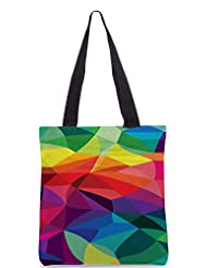 Snoogg Super Colour Pattern Poly Canvas Tote Bag