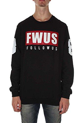 Follow Us Fum462 Felpa Uomo Nero XL