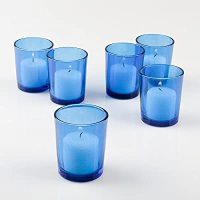 Set of 12 Colored Eastland Glass Votive Candle Holders