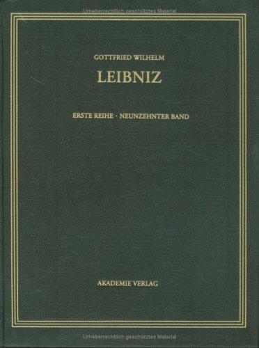Gottfried Wilhelm Leibniz. Sämtliche Schriften und Briefe: September 1700-Mai 1701: 19