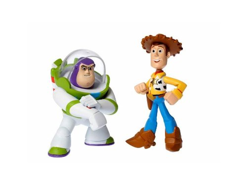 Disney / Pixar Toy Story 3 Action Links Mini Figure Buddy 2Pack Laser Buzz Lightyear Walking Woody - 1