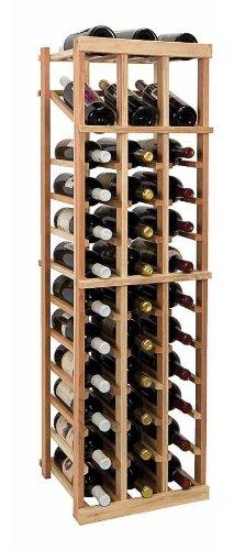 4 Ft. 3-Column Wine Rack W Display (Prime Mahogany - Dark Walnut Stain) front-590929
