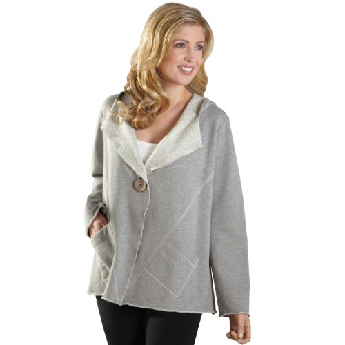 Женская стеганая куртка SIGNALS Women's Hooded French Terry Cardigan
