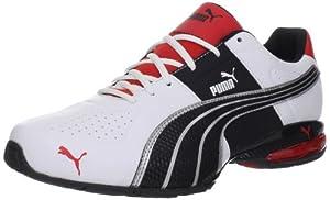 PUMA Men's Cell Surin Cross-Training Shoe,White/Flamescarlet/Black,10.5 D US