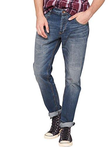 QS by s.Oliver Herren Straight Leg Jeans 40.410.71.8495, Gr. W38/L32 (Herstellergröße: 38), Blau (blue 53Y3)
