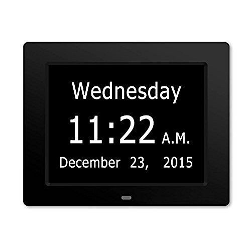 SkyNature Memory Loss Digital Calendar Day Clock with Extra Large Day, Month for Elder (Black) (Digital Clock With Date compare prices)