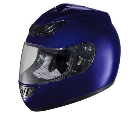 Hawk Solid Blue Motorcycle Helmet - Buy Hawk Solid Blue Motorcycle