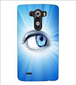 PrintDhaba Blue Eye D-5798 Back Case Cover for LG G3 (Multi-Coloured)
