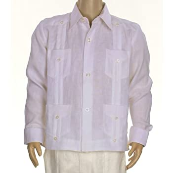 Boys linen guayabera shirt in lavender. Final sale