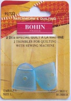 Bohin 91722 Rubber Finger Tip, Large Size, 2-Pack (Quilting Finger Pads compare prices)