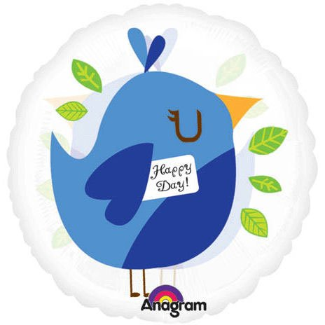 "18"" Happy Day Bird Blue Magicolor (1 per package)"