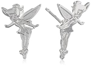 Disney Tinkerbell Sterling Silver Stud Earrings by Disney