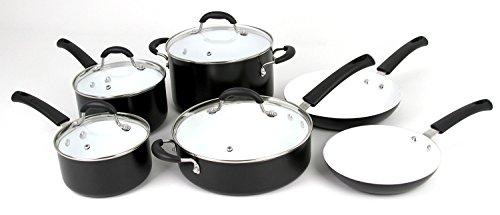 Oneida 10pc Aluminum PFOE/PTFE Free Non-stick Ceramic Cookware Set. Dishwasher Safe (Aluminum Ceramic Cookware compare prices)