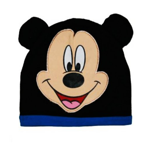 """Disney Mickey Mouse """"Mickey"""" Black Infant Baby Beanie Hat (0-9M) front-837763"""