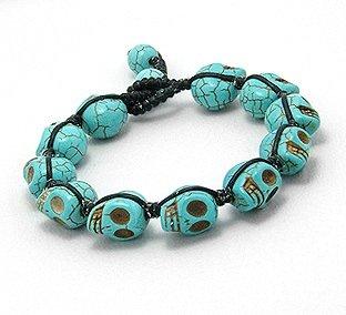 Designer Jewellery - Gothic Turquoise Skull Bracelet