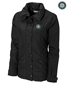 Seattle Mariners Ladies WeatherTec Granite Falls Jacket Black by Cutter & Buck