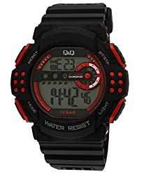 Q&Q Regular Digital White Dial Mens Watch - M128J001Y