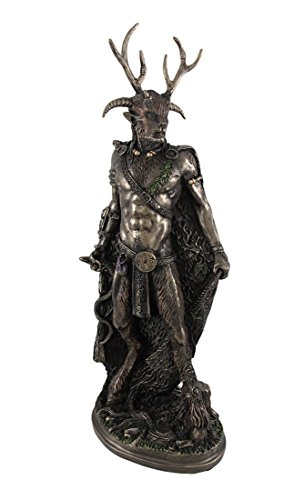 Bronze Celtic God Cernunnos Statue Standing by Things2Die4
