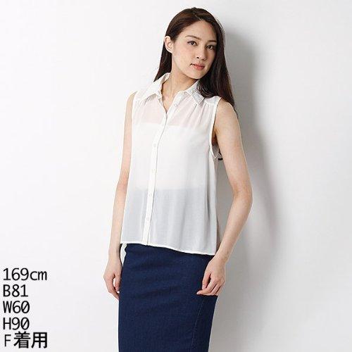 ムルーア(MURUA) シャツ(ジャガードカラーフレアSH)【オフホワイト/F】