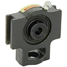"Sealmaster ST-8 Take-Up Unit, Standard Duty, Regreasable, Setscrew Locking Collar, Felt Seals, Cast Iron Housing, 1/2"" Bore, 17/32"" Slot Width, 3"" Between Frames"