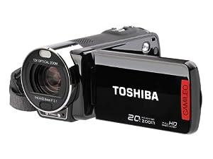Toshiba Camileo X200 Full-HD Camcorder (7,6 cm (3 Zoll) Touchscreen, 8 Megapixel CMOS, 12-fach opt. Zoom, Kartenleser, HDMI, USB 2.0) schwarz