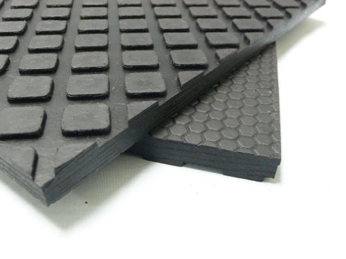 Maxx-Tuff Mat - Heavy Duty Rubber Floor Protection Mat - Black in color - 12mm x 4ft x 6ft