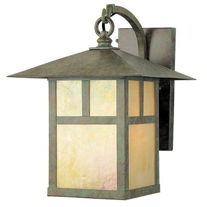 Montclair-16 - 1 Light Medium Mission Outdoor Lighting Wall Lamp Fixture - Green Brass Verde - B1960