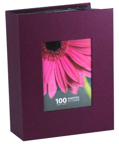 Kiera Grace Photo Album, Holds 100 5-Inch by 7-Inch Photos, Plum