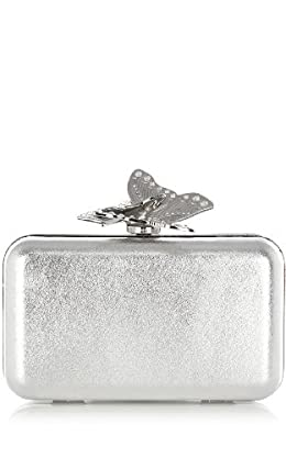 Metallic Butterfly Clutch
