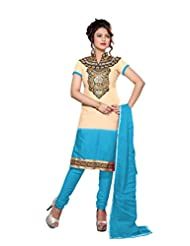 Rudra Fashion Embroidered Unstitched Salwar Kurta Dupatta Dress Material.
