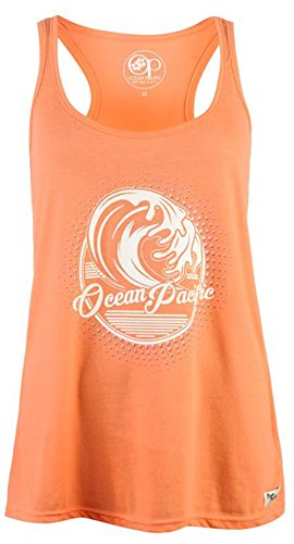 ladies-summer-racer-style-loose-graphic-long-vest-top-14-coral