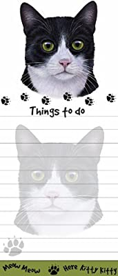 """""""Cat Magnetic List Pads"""" Uniquely Shaped Sticky Notepad Measures 8.5 by 3.5 Inches"""