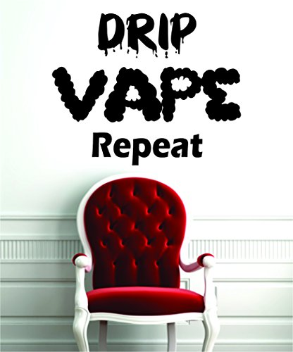 Drip Vape Repeat Decal Sticker Wall Vinyl Art E Cig Vapor Smoke Shop Decor (Ecig Drip Juice compare prices)