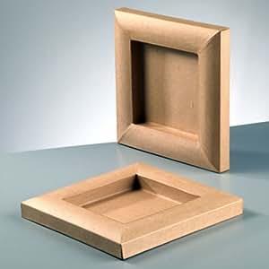 bilderrahmen karton zum basteln bemalen und gestalten 15x15cm spielzeug. Black Bedroom Furniture Sets. Home Design Ideas