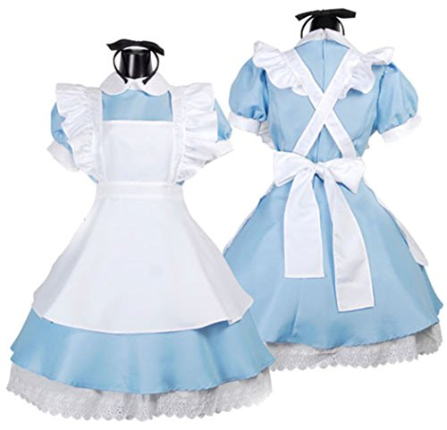 Oryer Cute Alice's Wonderland Lolita Dress Cosplay Maid Outfit