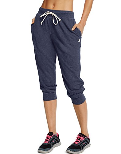 Champion Women's French Terry Jogger Capri, Navy Heather, Large (Champion Navy Pants compare prices)