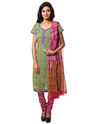 Utsav Fashion Women's Green Cotton Readymade Churidar Kameez-XXX-Large