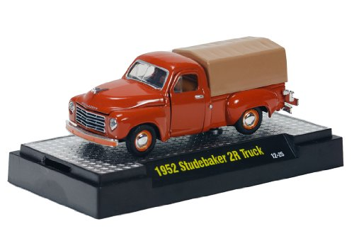 M2 Machines 1952 Studebaker 2R Truck Diecast Vehicle, Rust, 1:64 Scale
