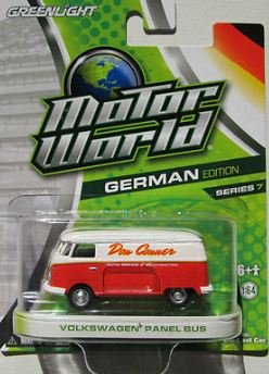 Greenlight Motor World 2011, Volkswagen Panel Bus, German edition, series 7. 1:64 Scale.