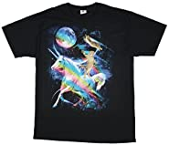Kitty Cat Riding A Unicorn Graphic T-Shirt