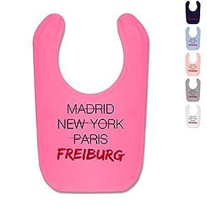 BZ12 Baby Lätzchen Latz Babyparty Geschenk Geburt Baby Bib - Städte & Länder Baby - Weltstadt Freiburg