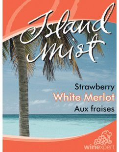 Island Mist Strawberry White Merlot Labels (30/Pack)
