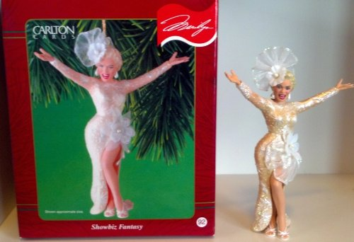 Marilyn Monroe Showbiz Fantasy 2001 Carlton Cards Christmas Ornament