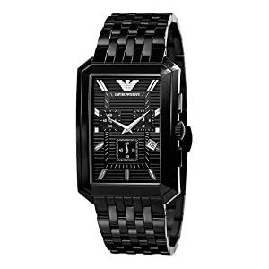 0d035966fa7a Buy Emporio Armani Men s AR0475 Black Stainless-Steel Quartz Watch Black  Dial at £188.99