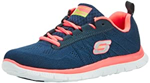 Skechers Flex Appeal Sweet Spot, Damen Sneakers, Blau (NVHP), 38 EU (5 Damen UK)