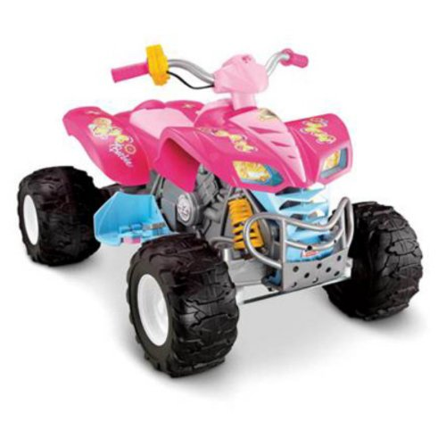 Fisher-Price Barbie Kawasaki KFX ATV with Monster Traction Riding Toy