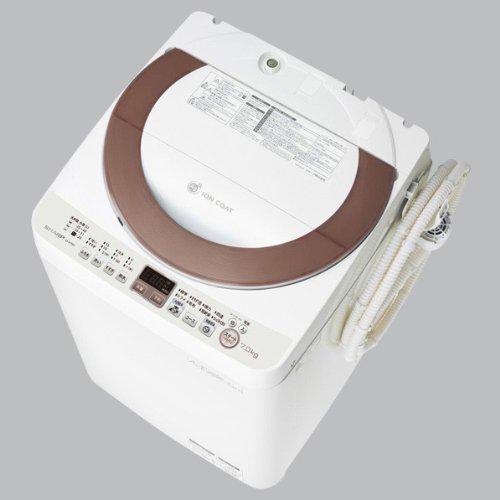 SHARP(シャープ) 7.0kg 全自動洗濯機 ゴールド系 穴なし槽カビぎらい エディオンオリジナル仕様[Ag給水・ちょっと待って脱水コース] ES-A70E9N