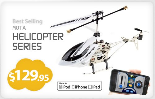IPhone / IPad / iPOD Controlled RC Remoted Controlled Helicopter Extreme Edition - MOTA 6036