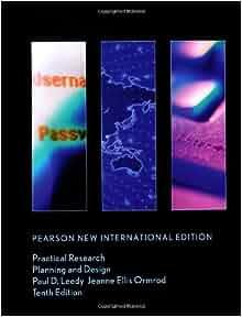 Practical Research Planning And Design Paul D Leedy Jeanne Ellis Ormrod