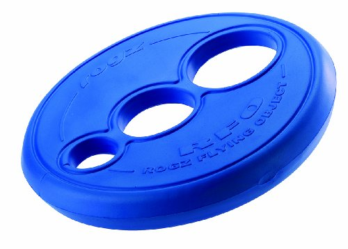 Rogz Flying Object Frisbee Dog Toy, Blue